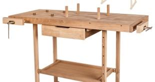 TecTake Holz Werkbank mit Schraubstock - diverse Größen