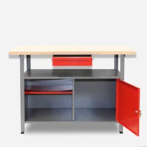 Werkbank kaufen mit Qualität und Komfort: Die Werkbank aus Metall mit Sperrholzplatte
