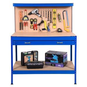 Stationärer Werktisch (ohne Angaben über Hersteller oder Modellbezeichnung)