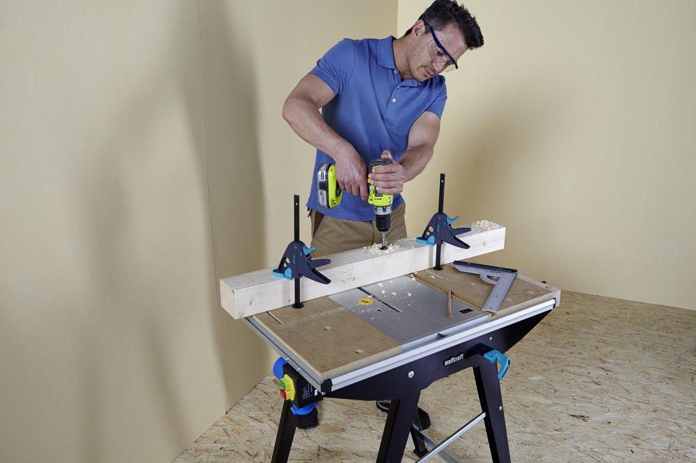 wolfcraft werkbank ein effizientes und sicheres arbeiten werkbank. Black Bedroom Furniture Sets. Home Design Ideas